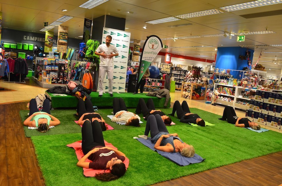 Pilates event in El Corte Inglés